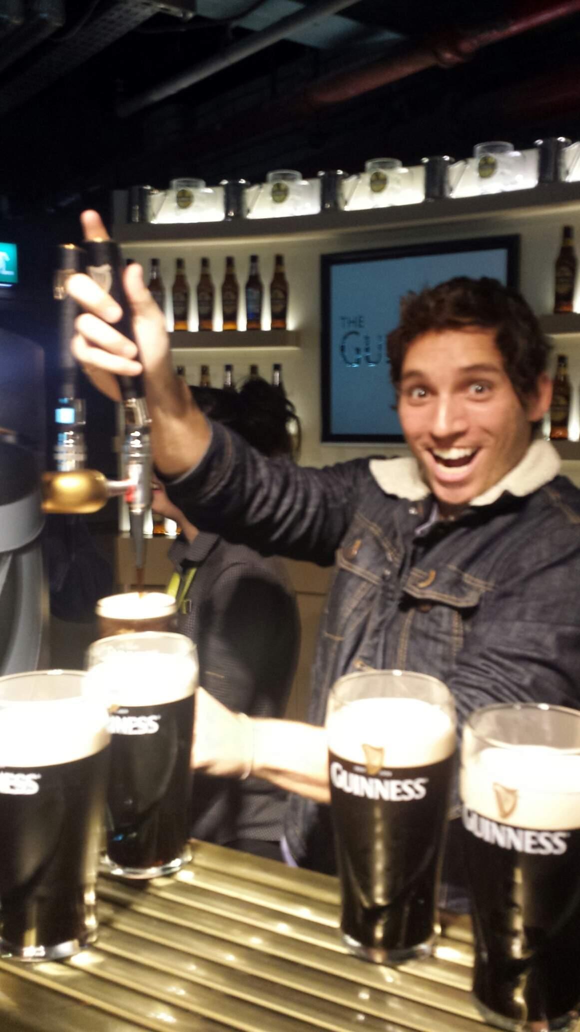Foi tão legal que agora quero ser barman da Guiness