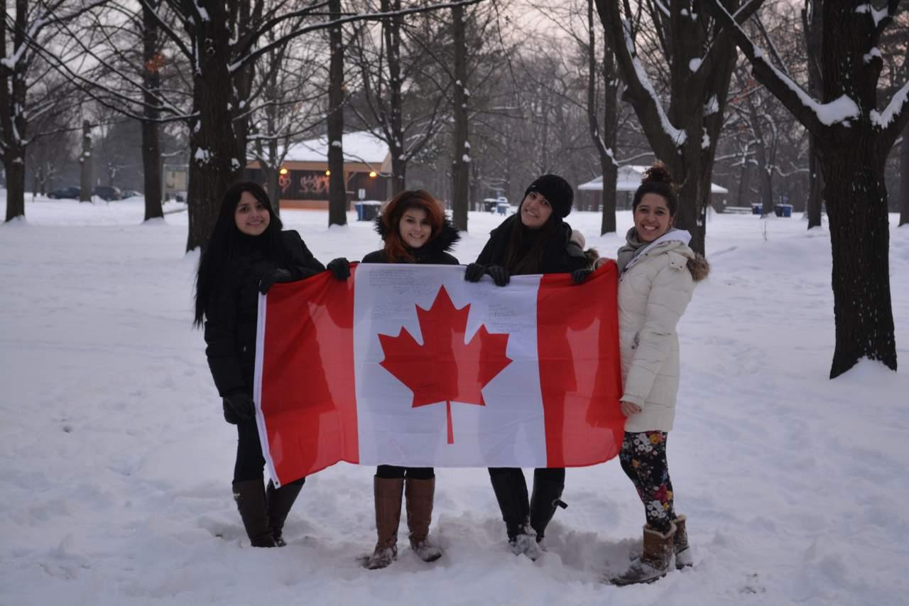 Canada dezembro- neve, amigas- camera 380