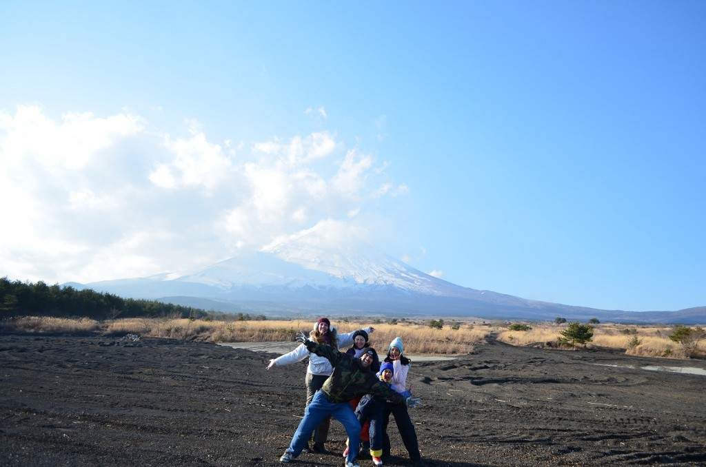 No pé do vulcão