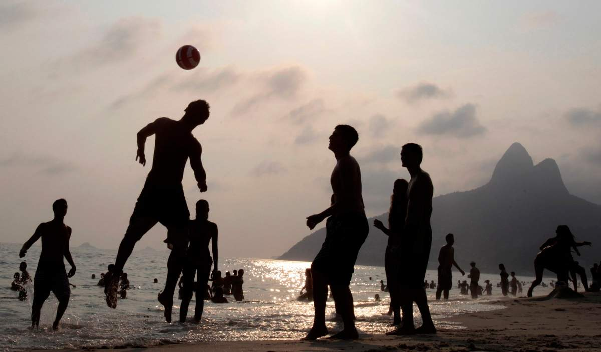 Soccer on Ipanema beach