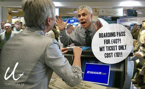 Ryanair check in airport mad complain