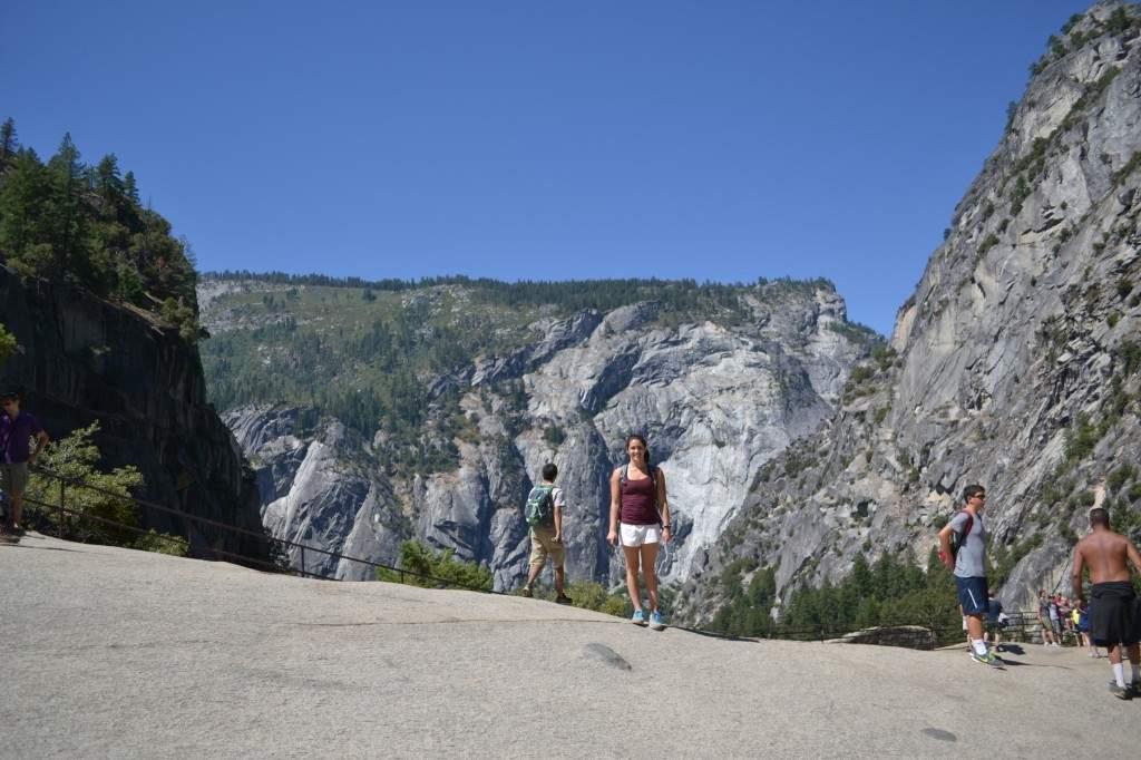 Depois de pegar uma escada e chegar ao topo da cachoeira, você se deparava com esse cenário.