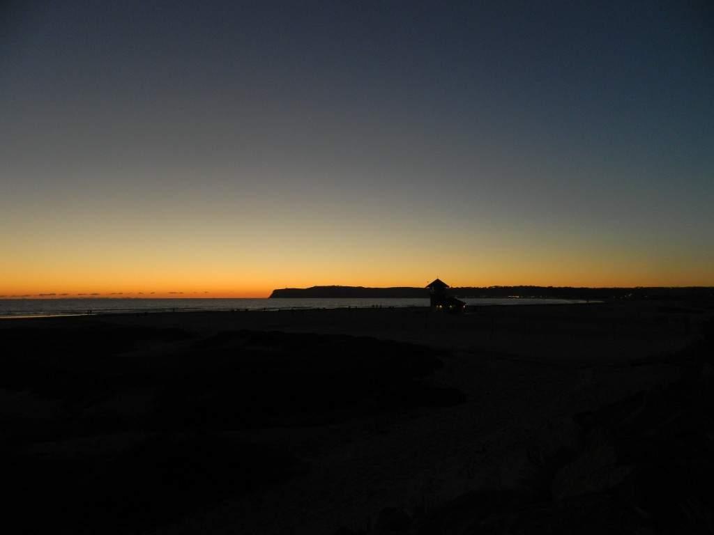 Por do sol em Coronado Beach.