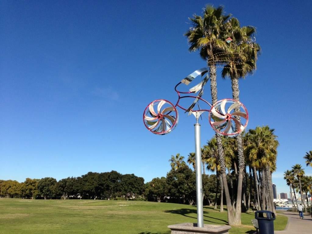 A bicicleta é um dos meios mais usados pelos turistas na ilha.