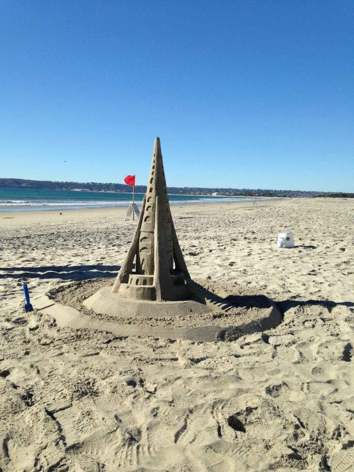 Parece que o Rio de Janeiro não é o único lugar com esculturas de areia.