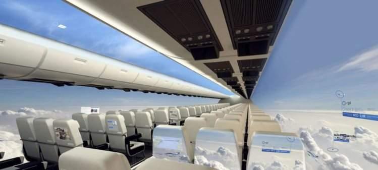 Janela panoramica aviao do futuro estevam pelo mundo