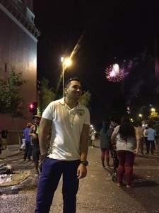 Ano novo em Santiago do Chile rua