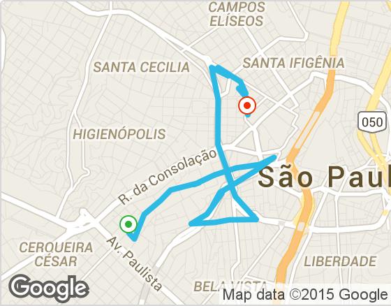 Trajeto Uber São Paulo