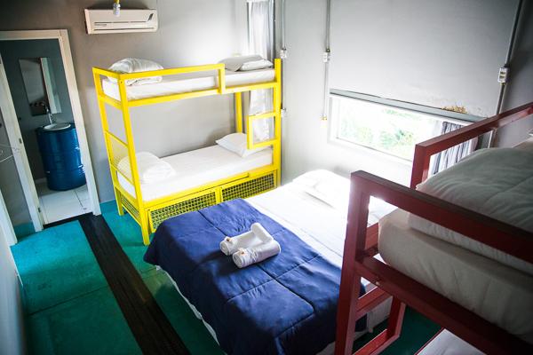 Esse quarto seria ideal para uma família ou um grupo de amigos