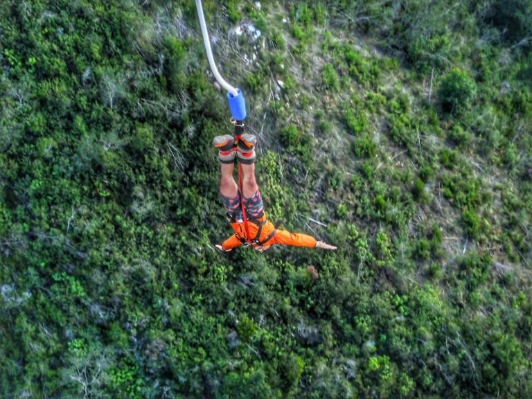 O que fazer na África do Sul e Cape Town bungy bungee jump