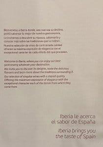 Classe executiva Iberia