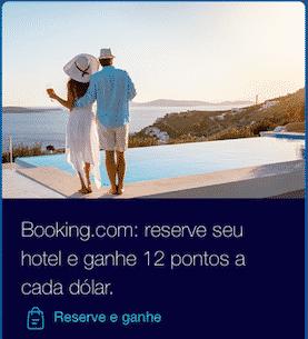 Booking.com e TudoAzul 12 pontos por US$1 gasto