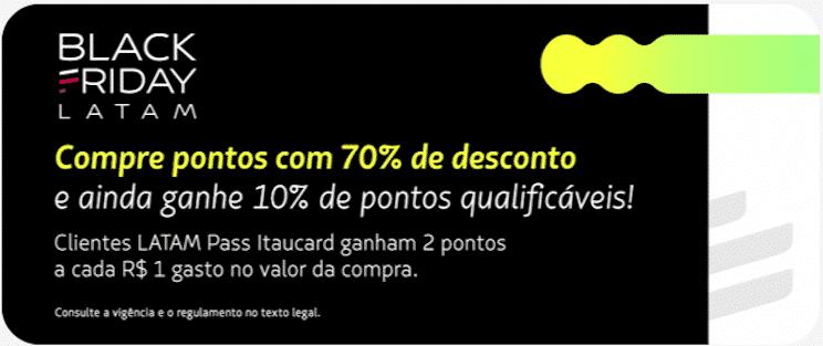 LATAM Pass com 70% off na compra de pontos