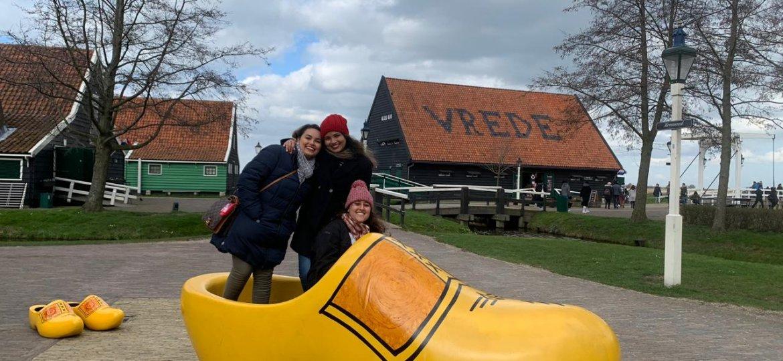 O último rolê por Amsterdam foi em Zaanse Schans em Zaandam