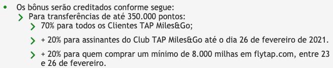 Regulamento promoção TAP Miles&Go