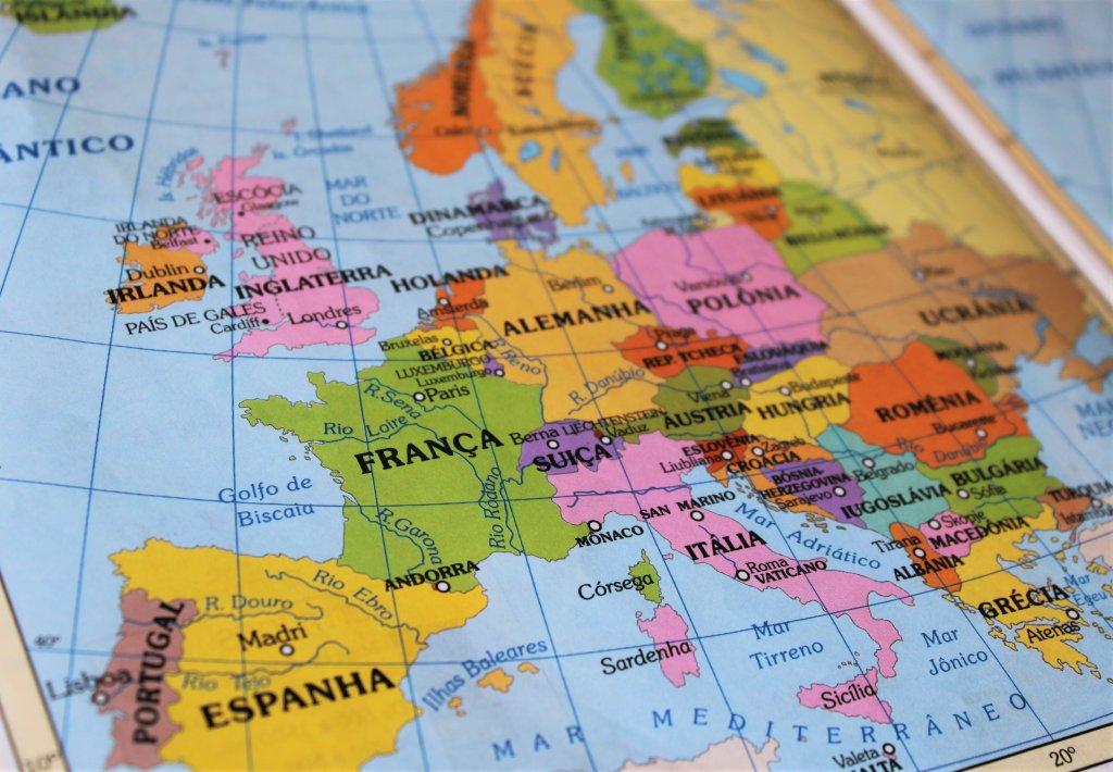 Mapa da Europa continental