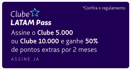 Bônus para as novas adesões ao Clube LATAM Pass