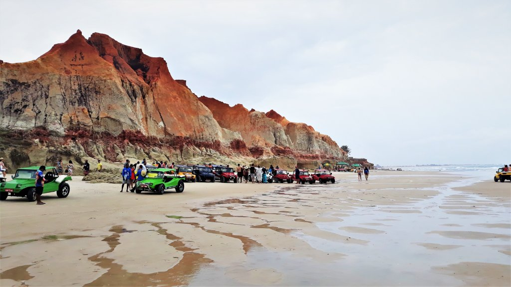 Praia no litoral cearense