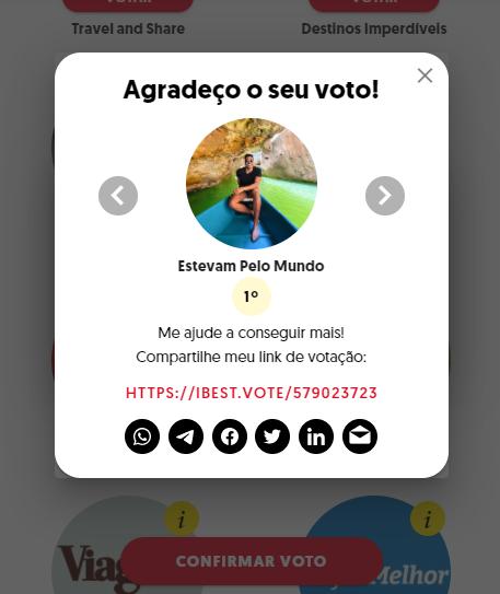 confirmação de voto