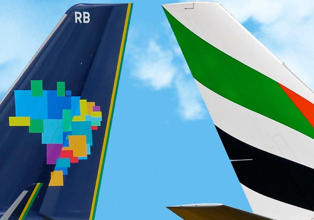Emirates e Azul passam a ter compartilhamento de voos